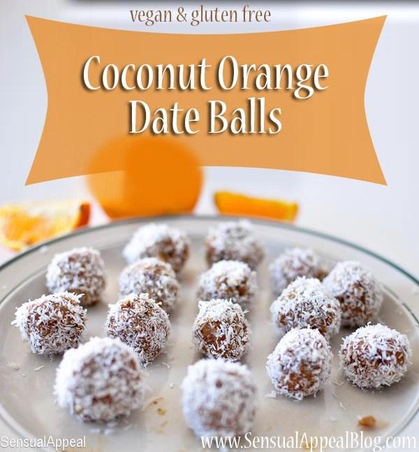 Coconut Orange Date Balls (vegan and gluten free)