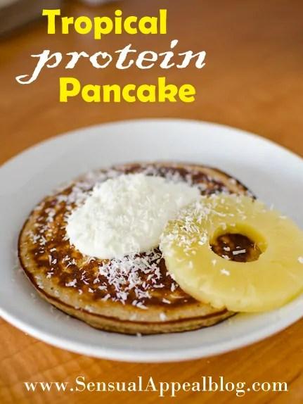 Tropical Protein Pancake // sensualappealblog.com