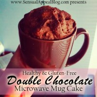 Healthy and Gluten Free double chocolate Microwave Mug Cake! This changed my life FOREVER. Amazing! Learn more at sensualappealblog.com