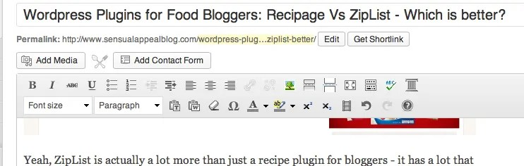 ziplist button plugin