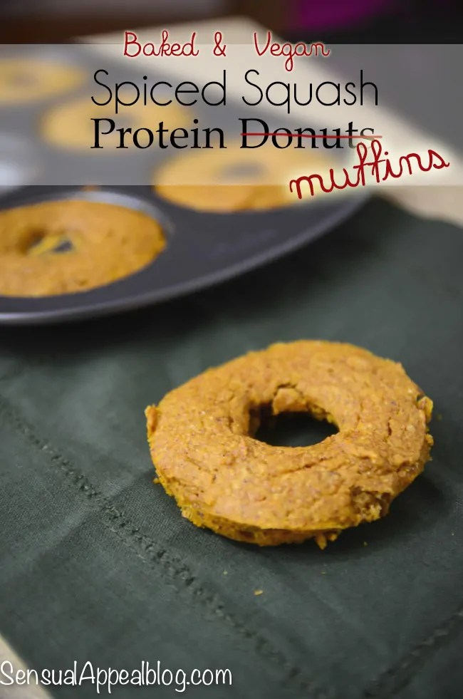 Baked Vegan Spiced Squash Protein Donuts #Bake4Better #ad