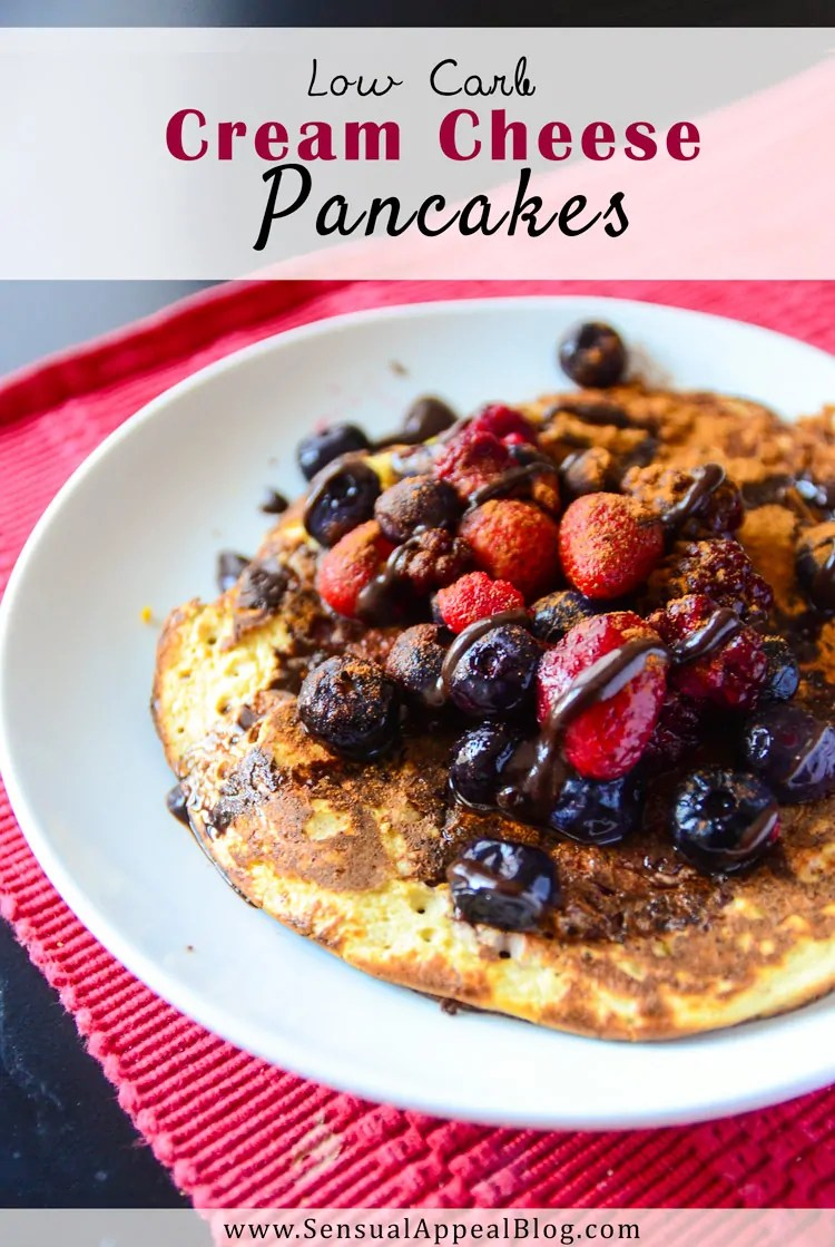 Low Carb Cream Cheese Pancakes (Sugar-Free & Gluten-Free) - Sensual ...