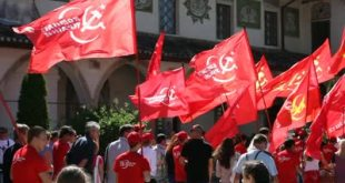 stock-footage-crimea-ukraine-may-demonstration-of-the-communist-party-communist-people-are-marching