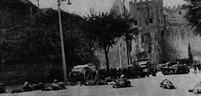Combattimenti a Porta San Paolo