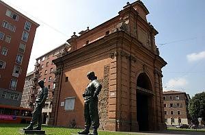 Il monumento ai partigiani di Porta Lame