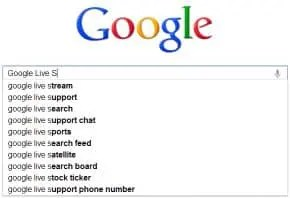 Google Live Search