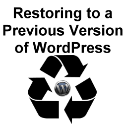 How to Go Back to a Previous Version of WordPress