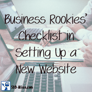 Business Rookies' Checklist in Setting Up a New Website