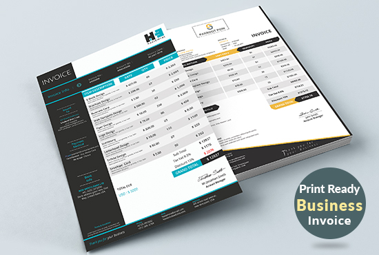 Modern Business Invoice Ms Excel  Word  Google Docs For You for  5     Modern Business Invoice Ms Excel  Word  Google Docs For You