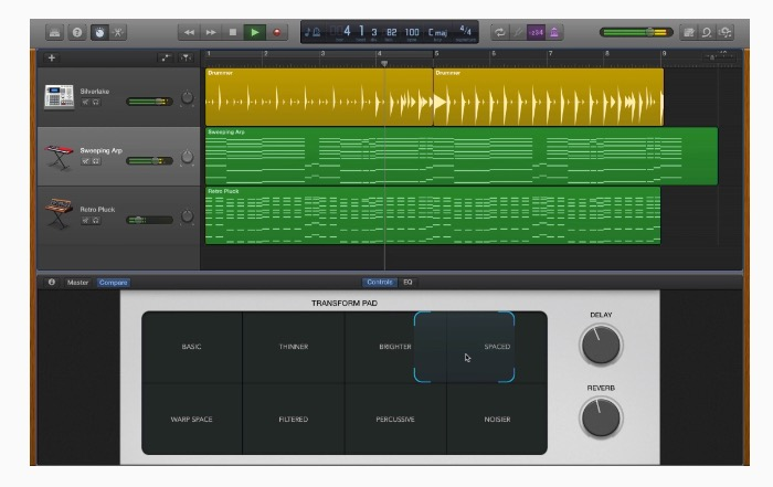 garage band os x morph