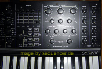 synton syrinx synthesizer filter