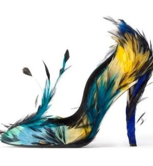 Roger Vivier wants you to look like a tropical bird.