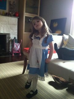Maayan Ariel is Alice in Wonderland for Purim.
