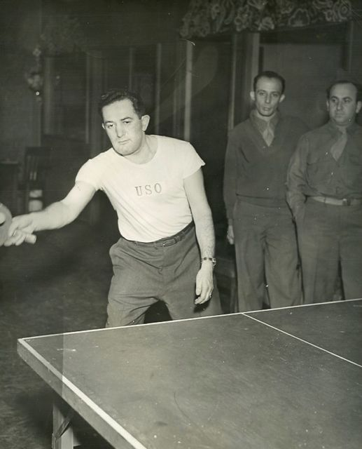 "As an orthodox Jewish Chaplain, my father was frequently underestimated by his fellow officers. Dad took full advantage of this soft anti-Semitism, and cheerily accepted challenges to play ping-pong for small wages. At first, my father would fumble around, lull his opponent into a false sense of security, and then boom! he'd unleash a vicious overhead slam that left the other guy speechless — and a few bucks light. Dad was like Paul Newman in ""The Hustler,"" minus Piper Laurie and broken thumbs."