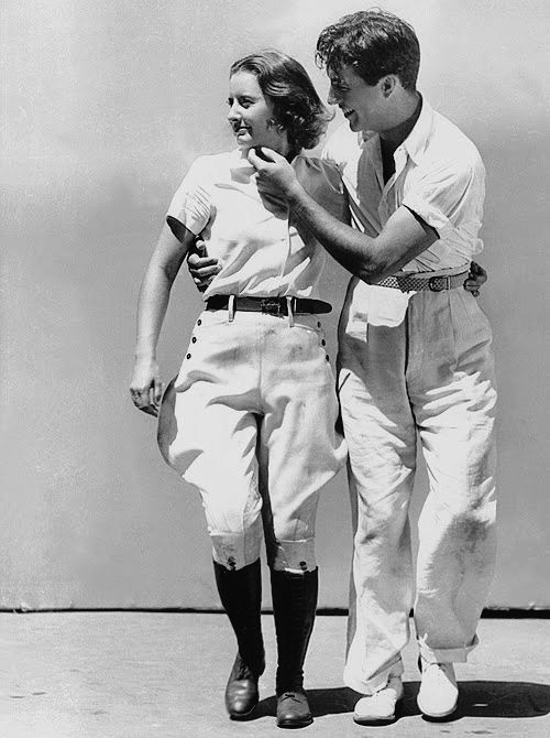 """""""The boy's got a lot to learn and I've got a lot to teach."""" —Barbara Stanwyck when first meeting future husband Robert Taylor."""