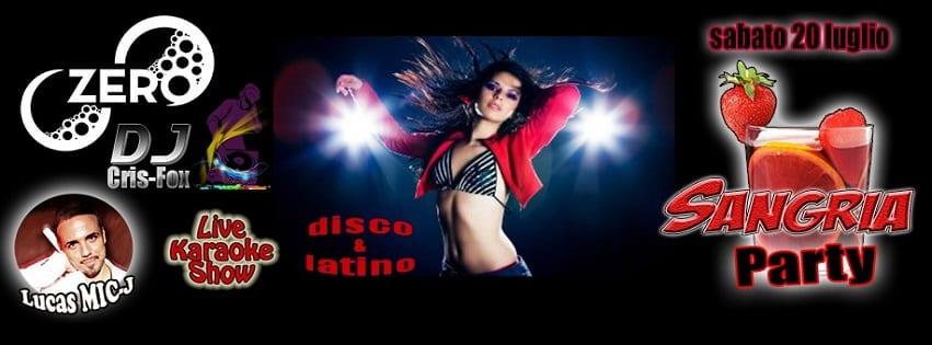 ZERO Discopub Pozzuoli - Sabato 20 Karaoke, Disco e Latino