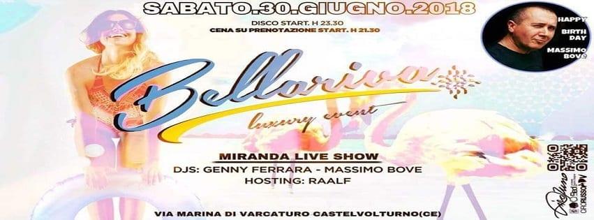 Lido Bellariva Varcaturo - Sabato 30 Live Cena e Disco sotto le Stelle