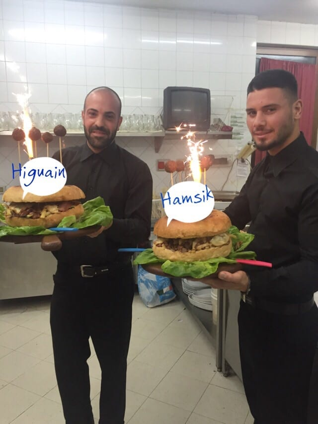 Taverna cos e pazz HIguain e Hamsik