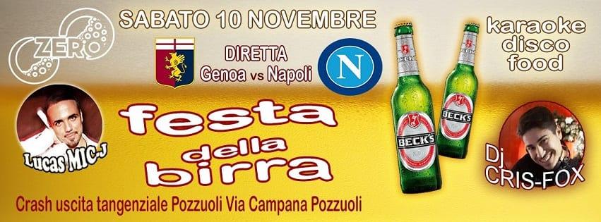ZERO Discopub Pozzuoli - Sabato Diretta Napoli, Birra Fest e Disco
