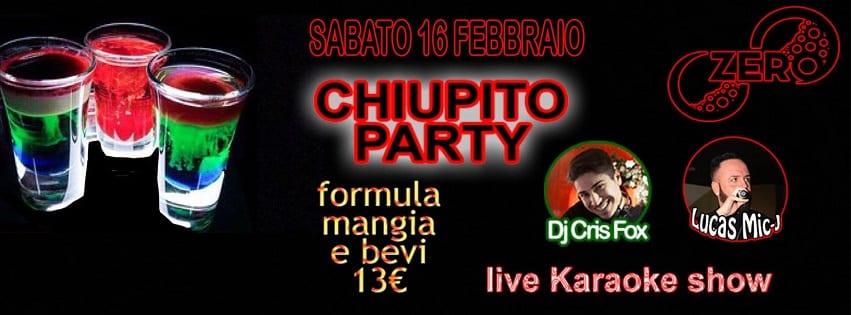 ZERO Discopub Pozzuoli - Sabato 16 Chupito Party Karaoke e Disco