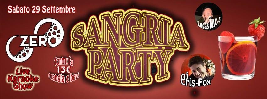 ZERO Discopub Pozzuoli - Sabato 29 Sangria Party, Disco e Latino