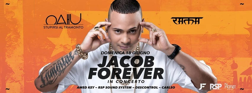 RAMA BEACH Varcaturo - Domenica 18 Live Jacob Forever