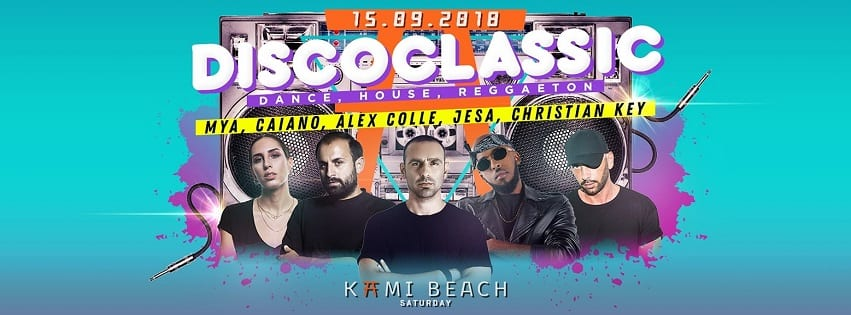 KAMI Beach Varcaturo - Sabato 15 DiscoClassic Party