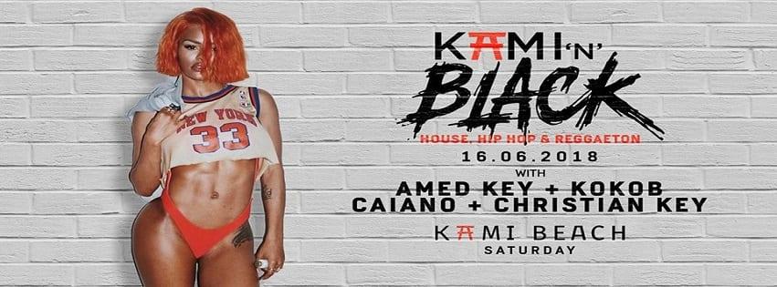 KAMI Beach Varcaturo - Sabato 16 Giugno Kami'n Black Party
