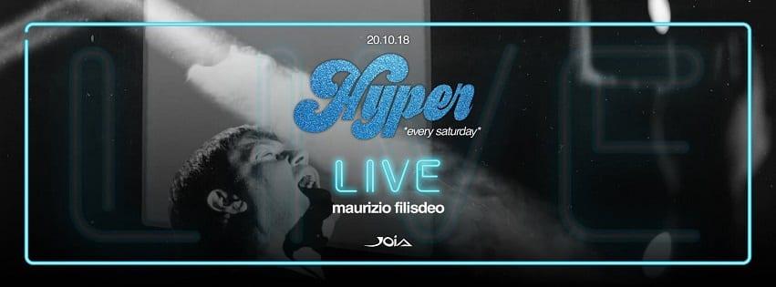 JOIA Napoli - Sabato 20 Cena e Disco con Maurizio Filisdeo Live