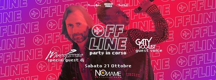 NoName Restaurant Club - Sabato 21 Off Line Party