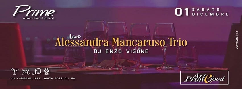 PRIME Pozzuoli - Sabato 1 Dicembre Live Music e Dj Set