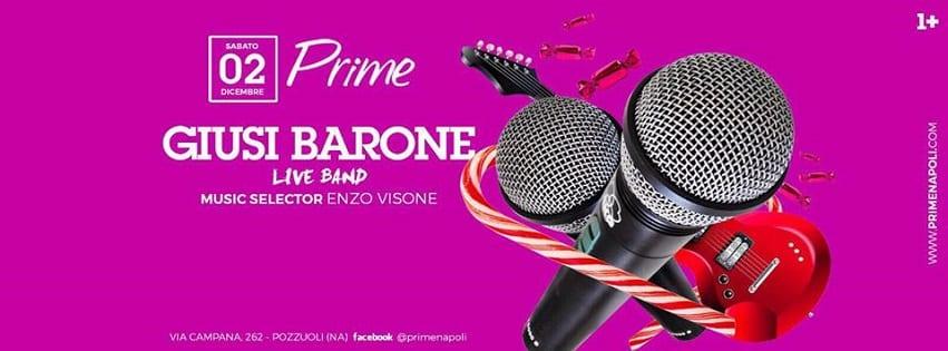 PRIME Pozzuoli - Sabato 2 Dicembre Live Music e Dj Set