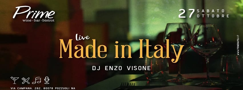 PRIME Pozzuoli - Sabato 27 Live Made In Italy