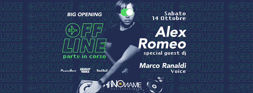NoName Restaurant Club - Sabato 14 Ott Opening Party