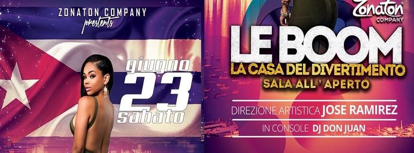 LeBoom Discopub Pozzuoli - Sabato 23 Giugno Serata Latina