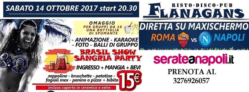 Flanagans Aversa - Sabato 14 Diretta Napoli e Brasil Show