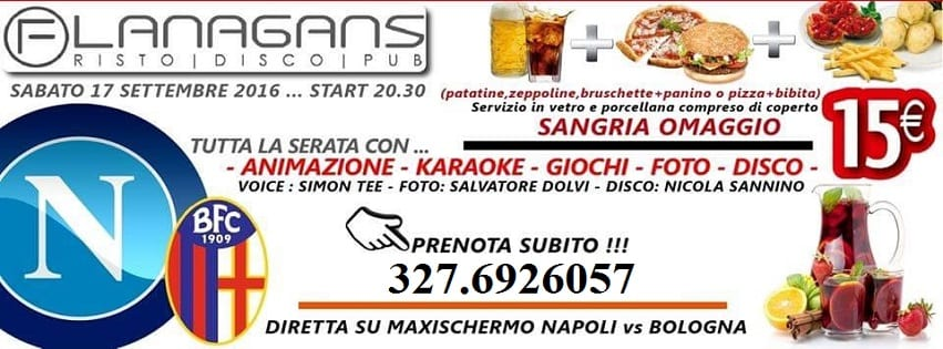 Flanagans Aversa - Sabato 26 Animazione karaoke e Disco
