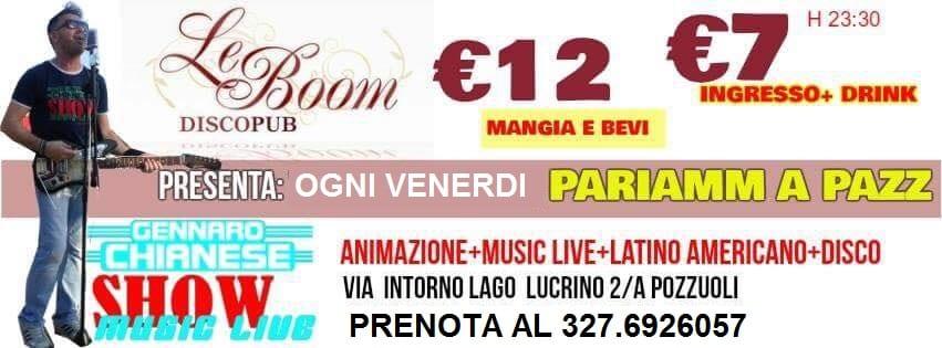 LeBoom Discopub Pozzuoli - Venerdi 21 Ottobre