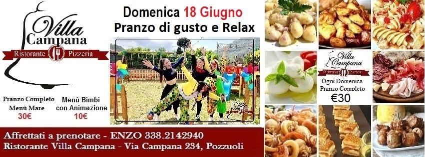 Villa Campana Pozzuoli - Domenica Pranzo con gusto e Relax
