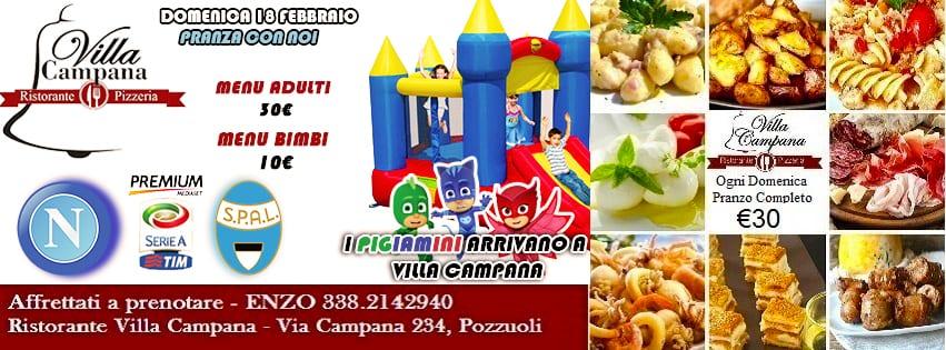 Villa Campana Pozzuoli - Domenica Pranzo, Diretta Napoli e Animazione bimbi