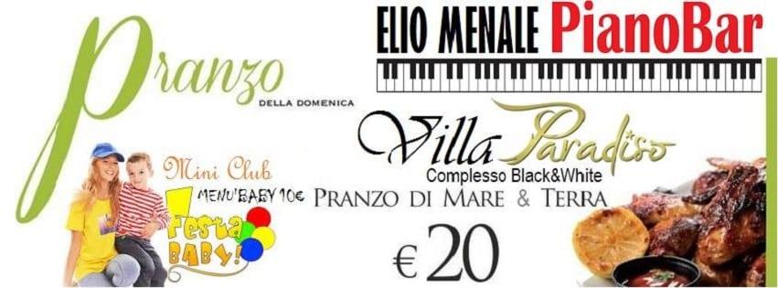 Villa Paradiso Pozzuoli - Domenica 2 Aprile Menù mare e monti 20€