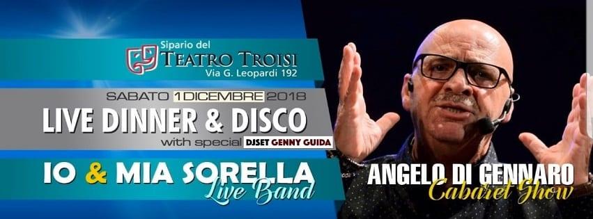 Teatro Troisi Napoli - Sabato 1 Cena Cabaret con Angelo di Gennaro