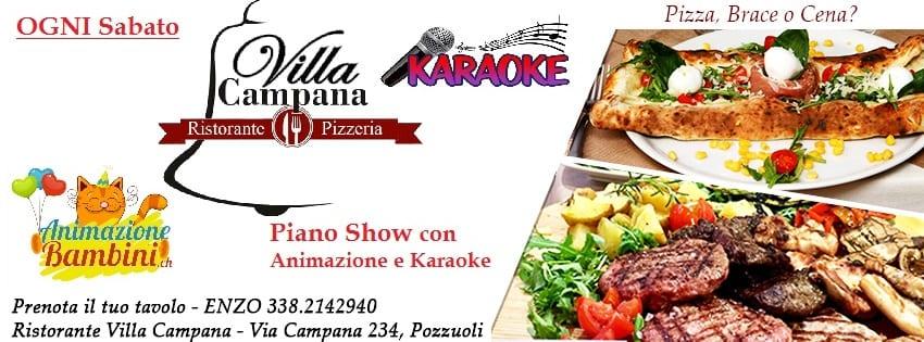Ristorante Villa Campana Pozzuoli - Sabato 2Dic Pizza Brace e Karaoke