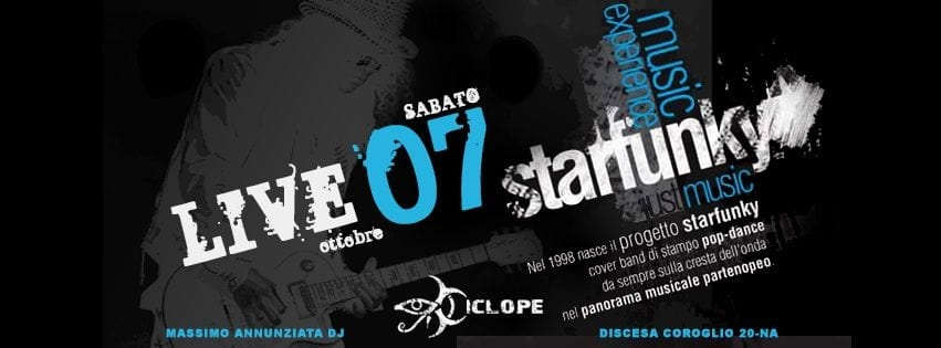 Ciclope Club Posillipo - Sabato 7 Ott Cena, Live e Disco