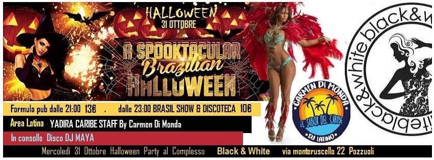 Black e White Pozzuoli - Mercoledì 31 Ottobre Halloween Party