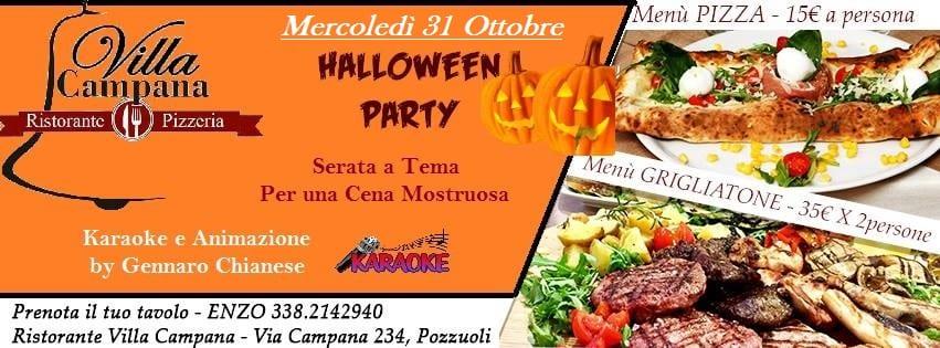 Villa Campana Pozzuoli - Mercoledì 31 Ottobre Cena di Halloween