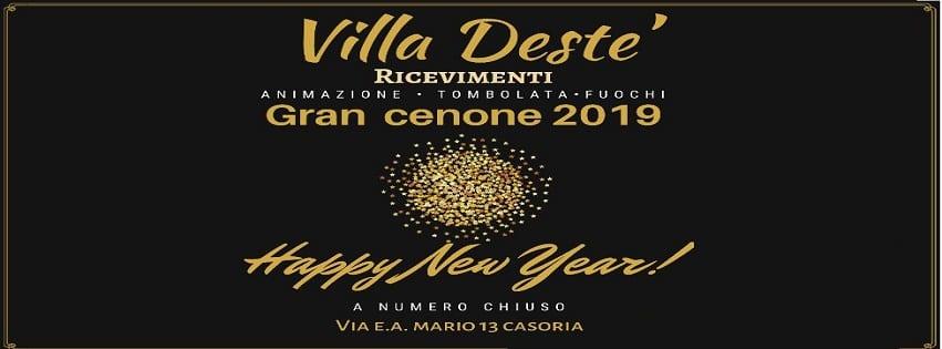 Villa Destè Casoria - Cenone di Capodanno 2019