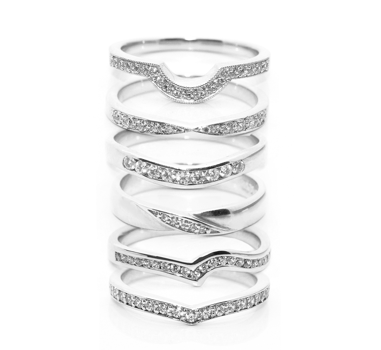 fitting inspiration for shaped wedding rings contoured wedding bands