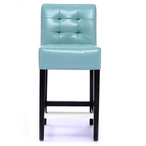 Blue Barstools  Leather Barstool With Back Support  Barstool  U Bar And Stools Stool Chairs Counter Height Barstools Modern  Blue Leather E65