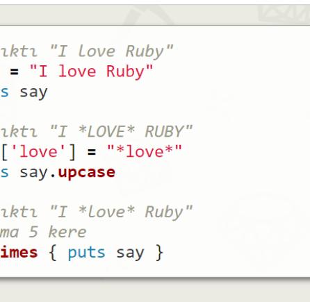 Ruby Yazılım Dikli